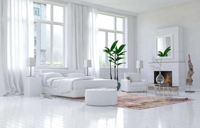 La chambre blanche et argentée