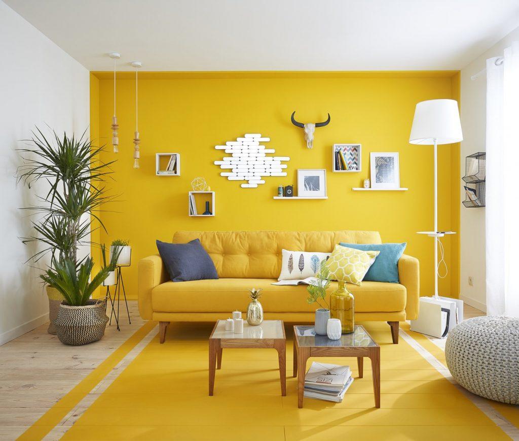 Du jaune moutarde et jaune citron